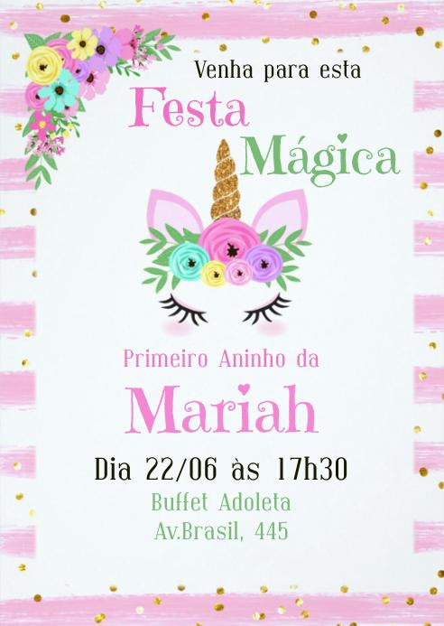 Convite Festa Unicórnio - 034