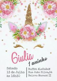 Convite Festa Unicórnio - 035