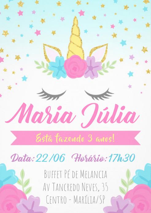 Convite Festa Unicórnio - 036