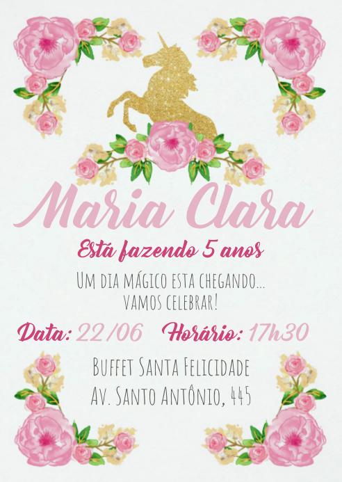 Convite Festa Unicórnio - 037