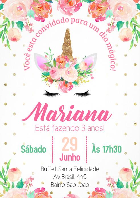 Convite Festa Unicórnio - 039