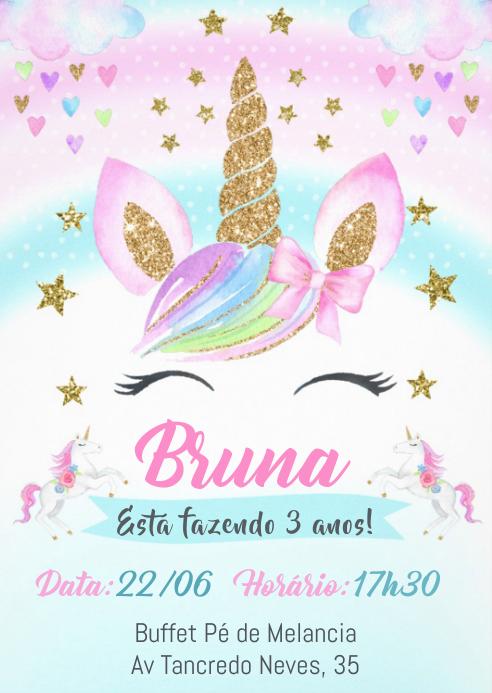 Convite Festa Unicórnio - 044