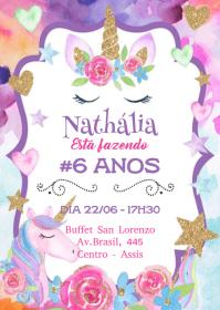 Convite Festa Unicórnio - 046