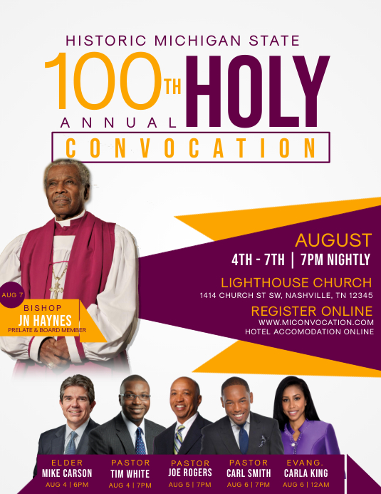 100th Convocation Flyer