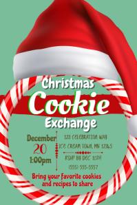 Cookie Exchange 5 Plakat template