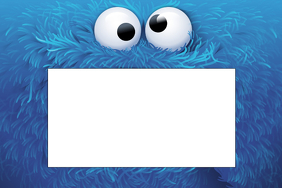 Cookie Monster Party Prop Frame