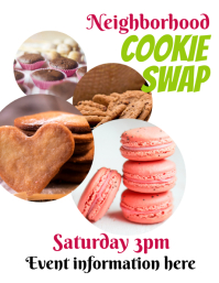 Cookie Swap Event Flyer Pamflet (VSA Brief) template