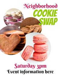 Cookie Swap Event Flyer
