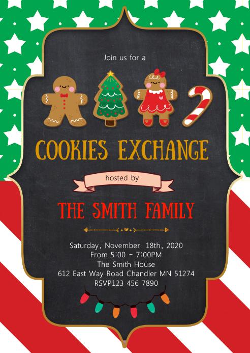 Cookies exchange party invitation