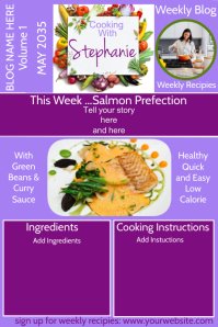 Cooking Blog Poster template