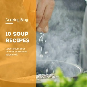 cooking blog recipes template promo ad video Square (1:1)
