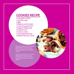 Cooking Blog Template Advert Marketing Square (1:1)