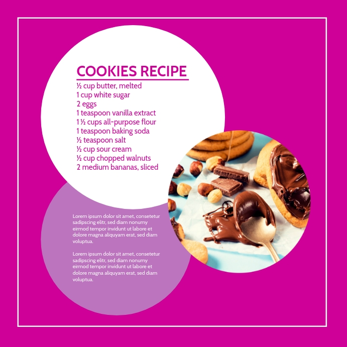 Cooking Blog Template Advert Marketing Квадрат (1 : 1)