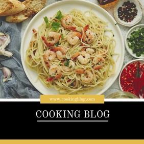 Cooking Blog Template Video Advert Marketing Quadrat (1:1)