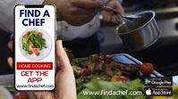 Cooking Chef Restaurant App Template Digital Display (16:9)