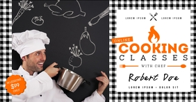COOKING CLASS BANNER Facebook Shared Image template