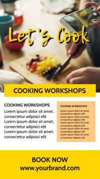 Cooking Class Blog Food Influencer Story Ad template
