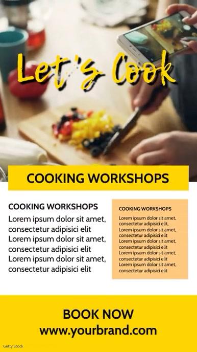 Cooking Class Blog Food Influencer Story Ad История на Instagram template