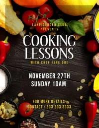 Cooking class Pamflet (VSA Brief) template