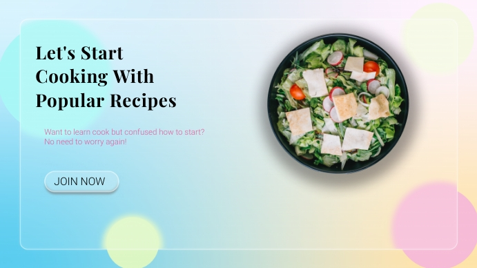 Cooking Class Flyer Template 数字显示屏 (16:9)