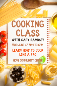 Cooking Class Poster Template