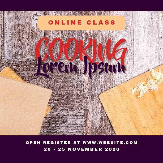 Cooking Class Video Ad Template