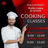 Cooking classes,restaurant,retail Publicación de Instagram template