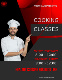 Cooking classes,restaurant,retail Flyer (US Letter) template