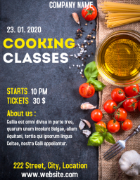 Cooking classes and lessons flyer advertiseme