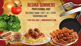 Cooking classes business Card