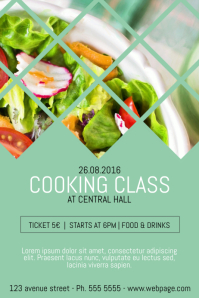 cooking classes class course flyer template