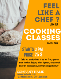 Cooking classes flyer advertisement for cooki