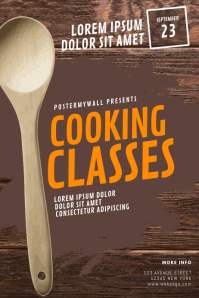 Cooking Classes Flyer Design Template