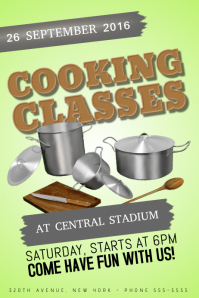 Cooking classes poster template