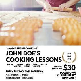 Cooking Classes Template