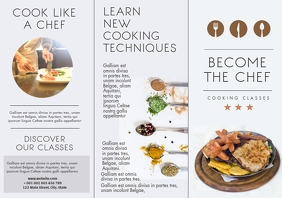 cooking classes trifold brochure advertisemen A4 template