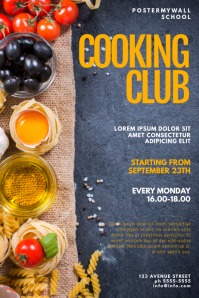 Cooking Club Flyer Design Template