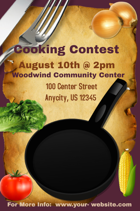 Cooking Contest Template Postermywall