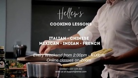 cooking Facebook Cover Video (16:9) template