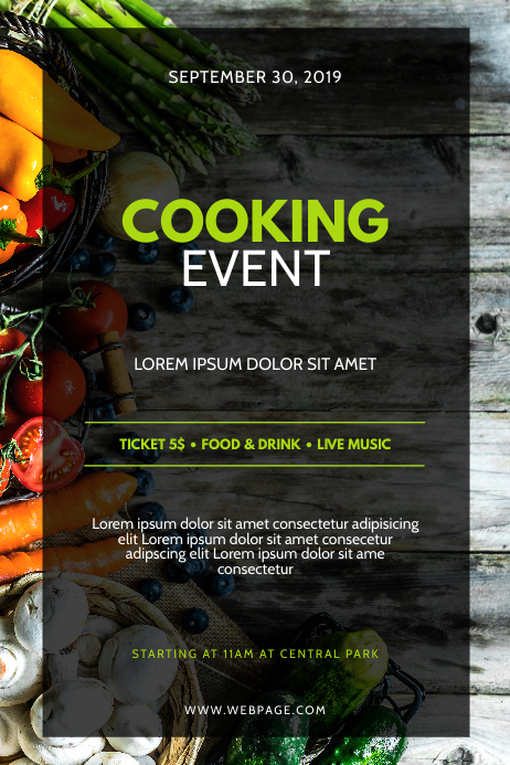 Cooking Event Flyer Design Template Poster
