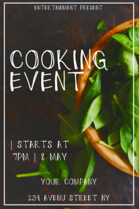 Cooking event flyer template