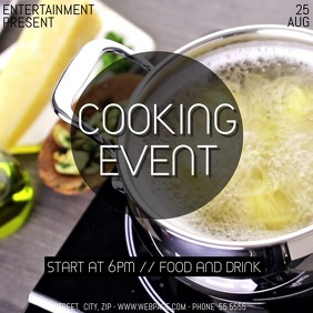 Cooking event video flyer template 方形(1:1)