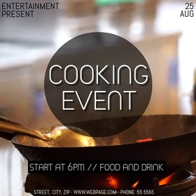 Cooking event video flyer template
