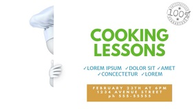 Cooking Lessons School Video Promotion for Facebook