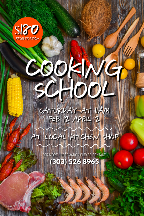 Cooking School Poster