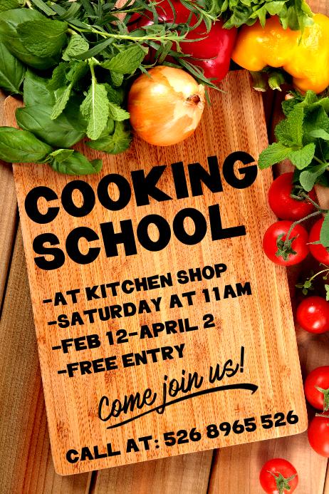 Cooking School Poster