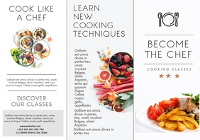 cooking trifold brochure design template A4