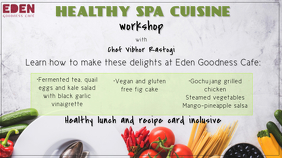 Cooking Workshop Google+ Cover Image template