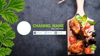 Cooking Youtube Channel Cover Omslagfoto YouTube-kanaal template