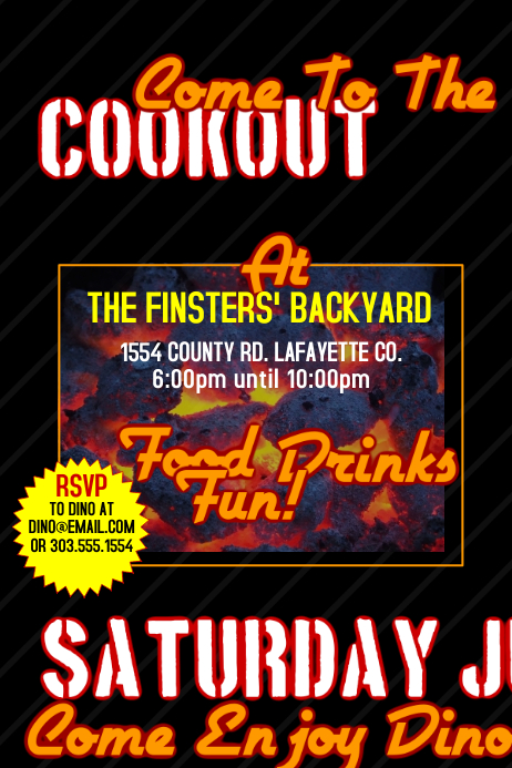 cookout template postermywall